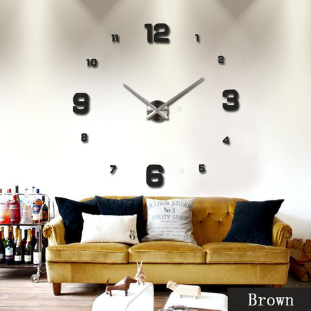 3D Acrylic Sticker Wall Clock
