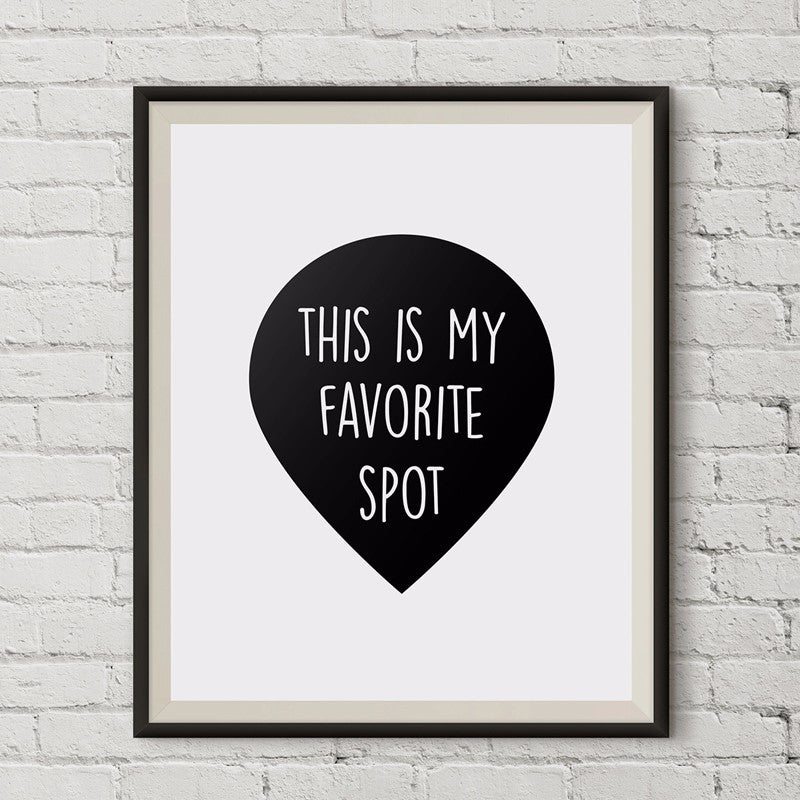This is my Favorite Spot Canvas Wall Art