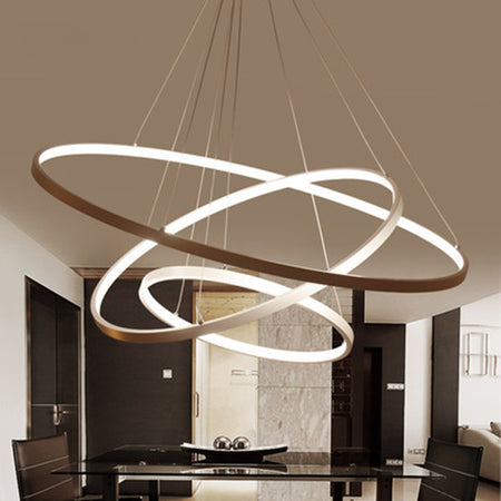 Acrylic Circle Rings LED Ceiling Lamp