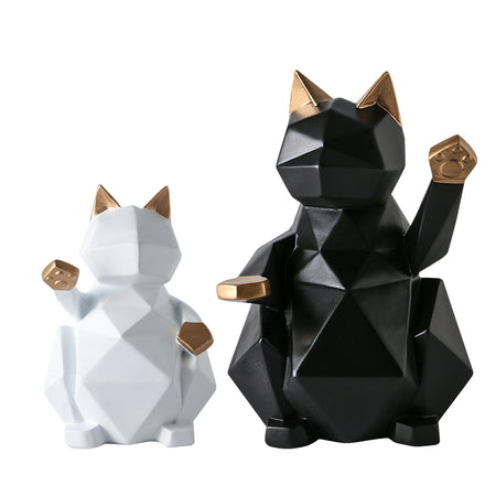 Geometric Cat Decor