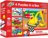 Galt - 4 Puzzles in a Box - Vehicle