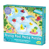 Peaceable Kingdom - Scratch & Sniff Puzzle Fruity Pool Party
