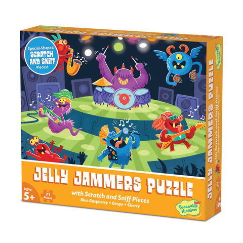 Peaceable Kingdom - Scratch & Sniff Puzzle Jelly Jammers