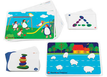 Rainbow Pebbles Activity Cards Set of 47