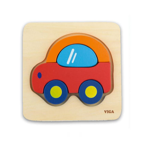 Viga - Mini Block Car Puzzle