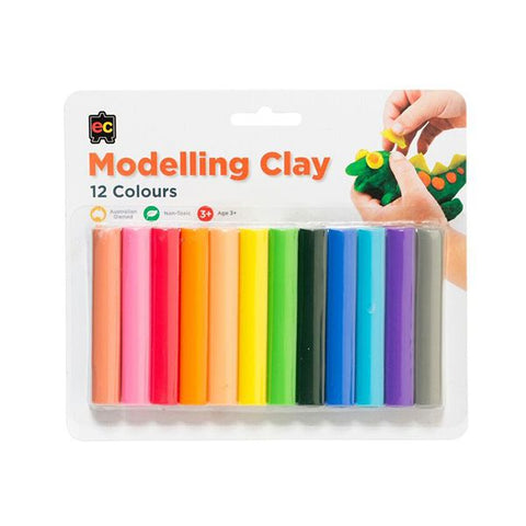 Modelling Clay 12 Rainbow Colours