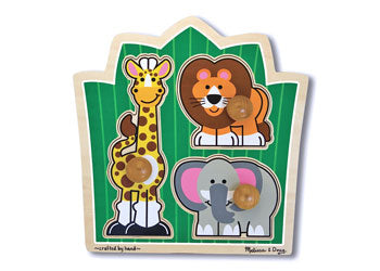 M & D - Jungle Friends Knob Puzzle 3pc