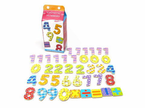 Milk Carton Magnetic Numbers