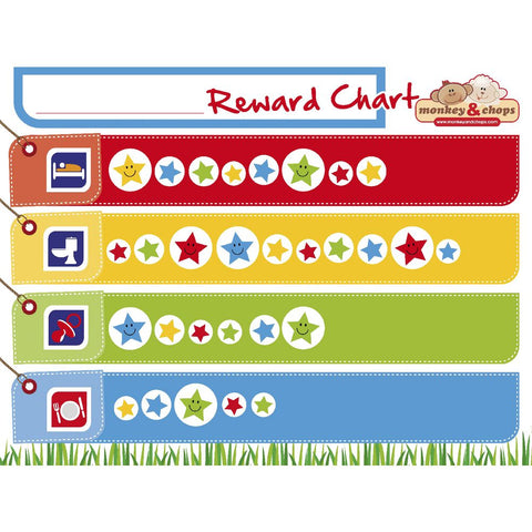 Monkey & Chops - Reward Chart