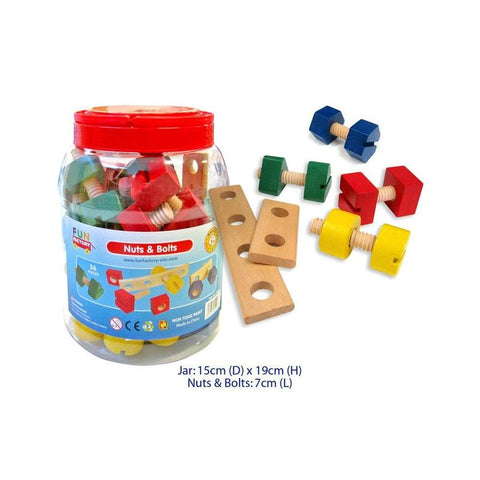 Fun Factory - Nuts & Bolts in a Jar (56 pieces)