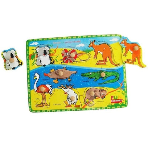Australian Animals Puzzle with Knobs