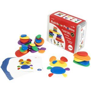 Rainbow Pebble Activity Set in Plastic Container