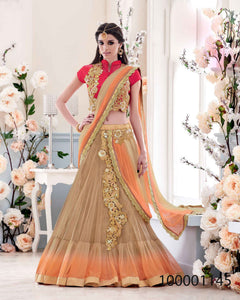 Orange Colour Sarees by Rawaaj