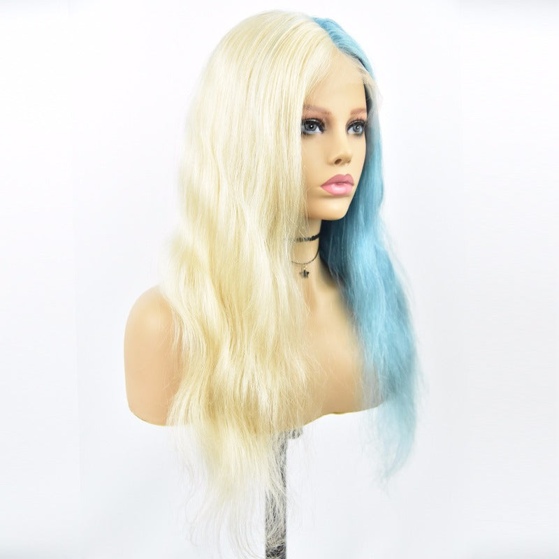 613/Blue Ombre Frontal Lace Wig 180% Density