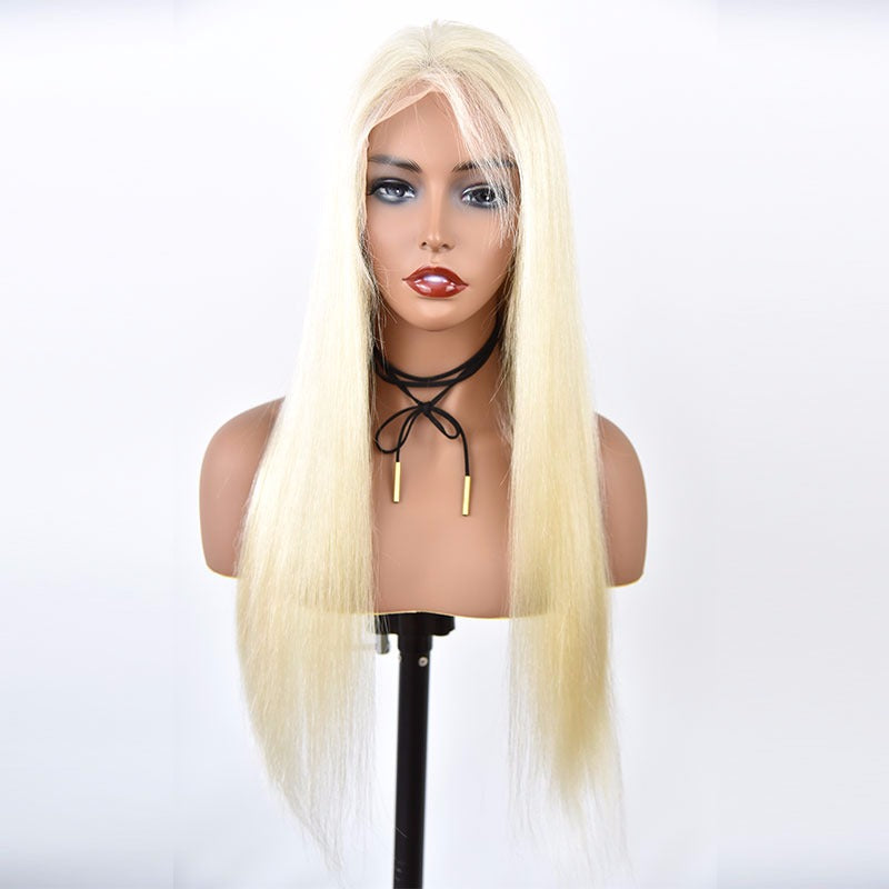Gorgeous Platinum 180 Density  Frontal Lace Wig