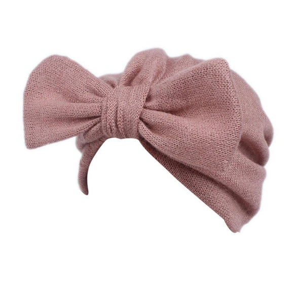 Baby Bow Turban-Pink