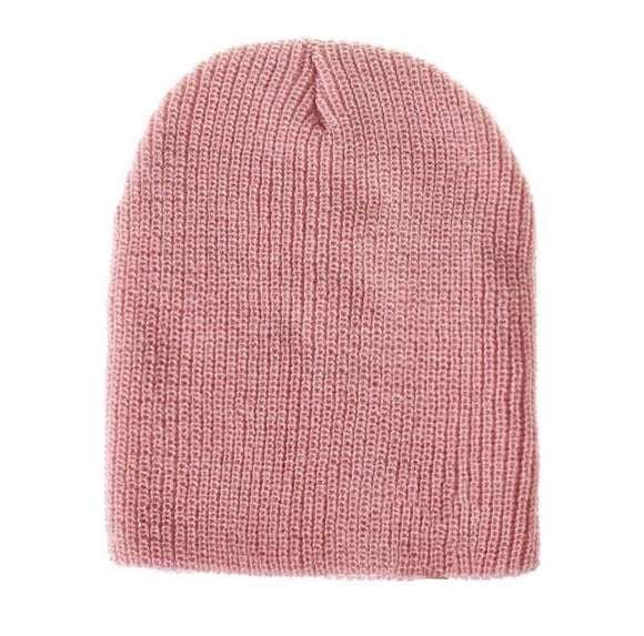 Knitted Beanie - Pink