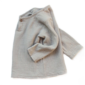 August Linen Shirt - Light Grey
