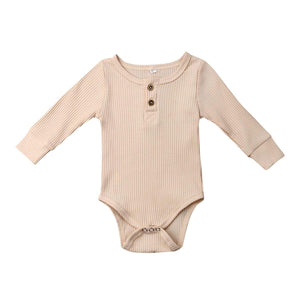 Ribbed Bodysuit- Beige