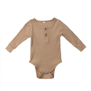 Ribbed Bodysuit- Tan
