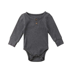 Ribbed Bodysuit- Grey