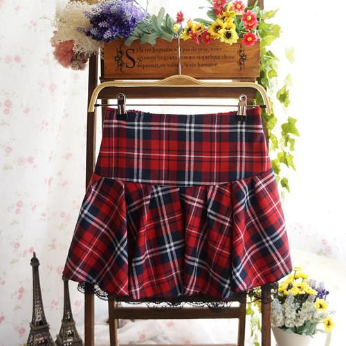 tartan plaid school girl skirt by kawaii babe