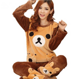 Rilakkuma Bear Pajama Pant Set Furry Fuzzy Warm Cozy Kawaii Harajuku Japan Fashion San-X Kawaii Babe