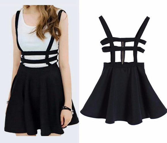 Suspender Style Cut-Out Dress