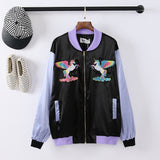 Holographic Unicorn Baseball Jacket