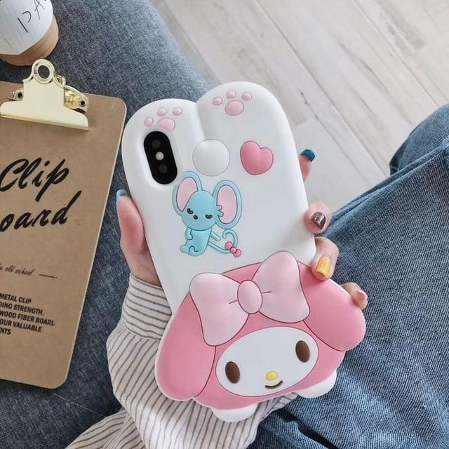 3D Melody Bunny iPhone Case - My Melody / for iphone XS - Phone Case