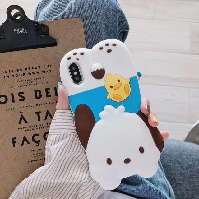 3D Melody Bunny iPhone Case - White Puppy Dog / for iphone XS MAX - Phone Case
