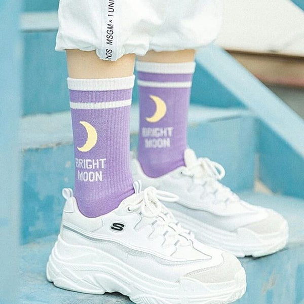 Kawaii Moon Socks