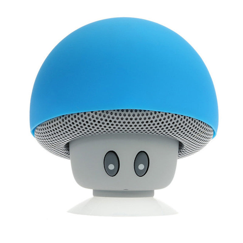 waterproof bluetooth mushroom speaker with built in microphone hands free mic device portable nintendo kawaii blue mushroom toadstool by kawaii babe