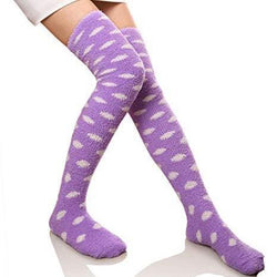 Purple Cloud Thigh Highs