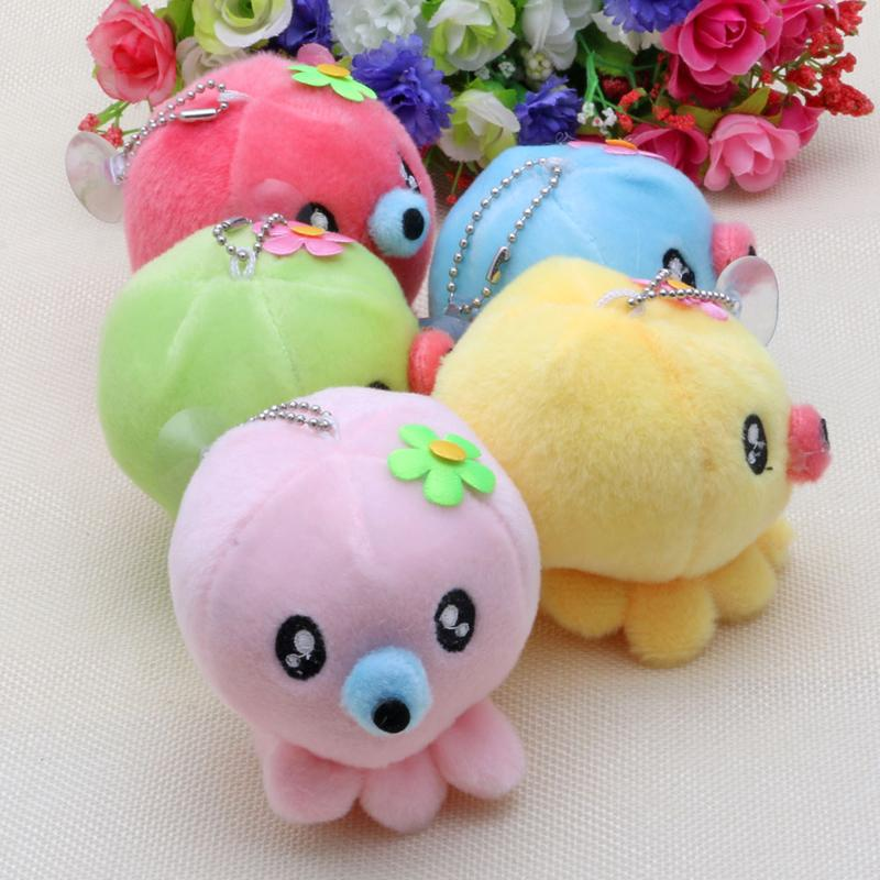 Baby Octopus Plush Keychain Soft Toy Stuffed Animal Kawaii