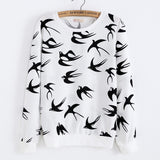 Harajuku Japan Birds Crewneck Sweater Hoodie Ice Cream Harajuku Fashion