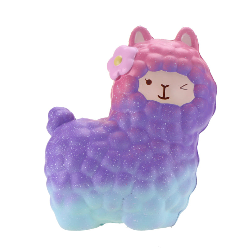 blue galaxy alpaca squeeze toy alpacasso stress ball stress relief autism stim stimming kawaii fairy kei by kawaii babe