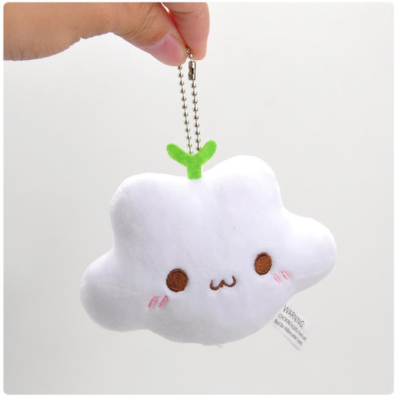 kawaii puffy fluffy soft cloud plush stuffed animal plushie toy keychain phone strap charm kawaii babe