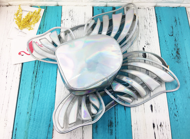 holographic butterfly wing angel fairy winged backpack book bag satchel costume shiny k-pop cute kawaii japan harajuku fashion by kawaii babe