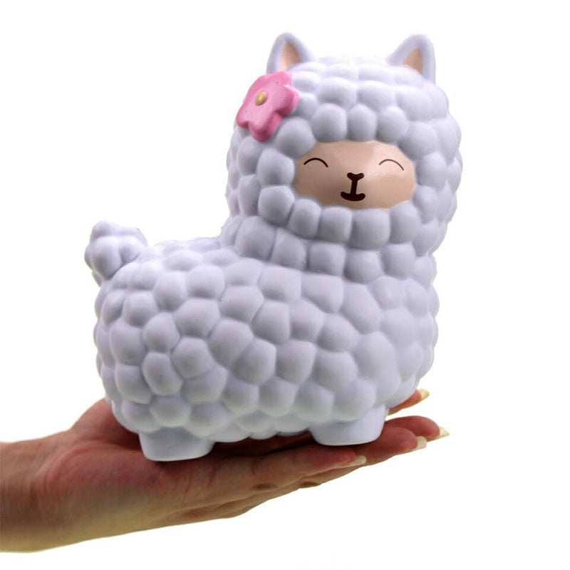 white alpaca squeeze toy stress ball stress relief autism stim stimming kawaii fairy kei by kawaii babe