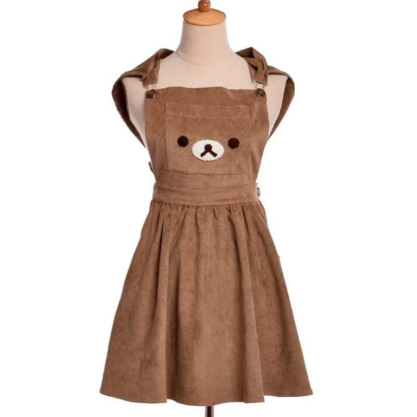 Rilakkuma Bear San-X Romper Dress Kawaii Brown Teddy Bear Cord Material Little Space DDLG ABDL CGL Age regression jumper jumpsuit cordaroy