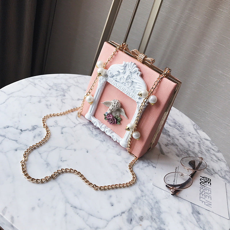 Elegant 3D Angel Handbag Victorian Vintage Aesthetic Mori Girl Lolita Fashion Style Purse Bag
