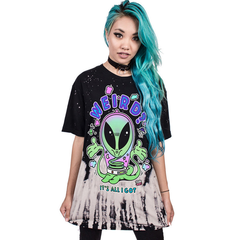Creepy Alien Oversized Tee