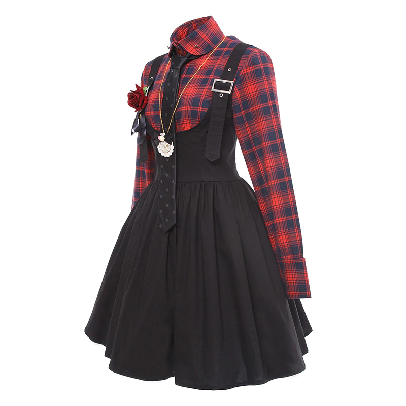Tartan Suspender Dress (Complete Outfit!)