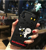 3d rubber sanrio iphone cases black badtz maru bat silicone bendy shock proof harajuku japan fashion by kawaii babe
