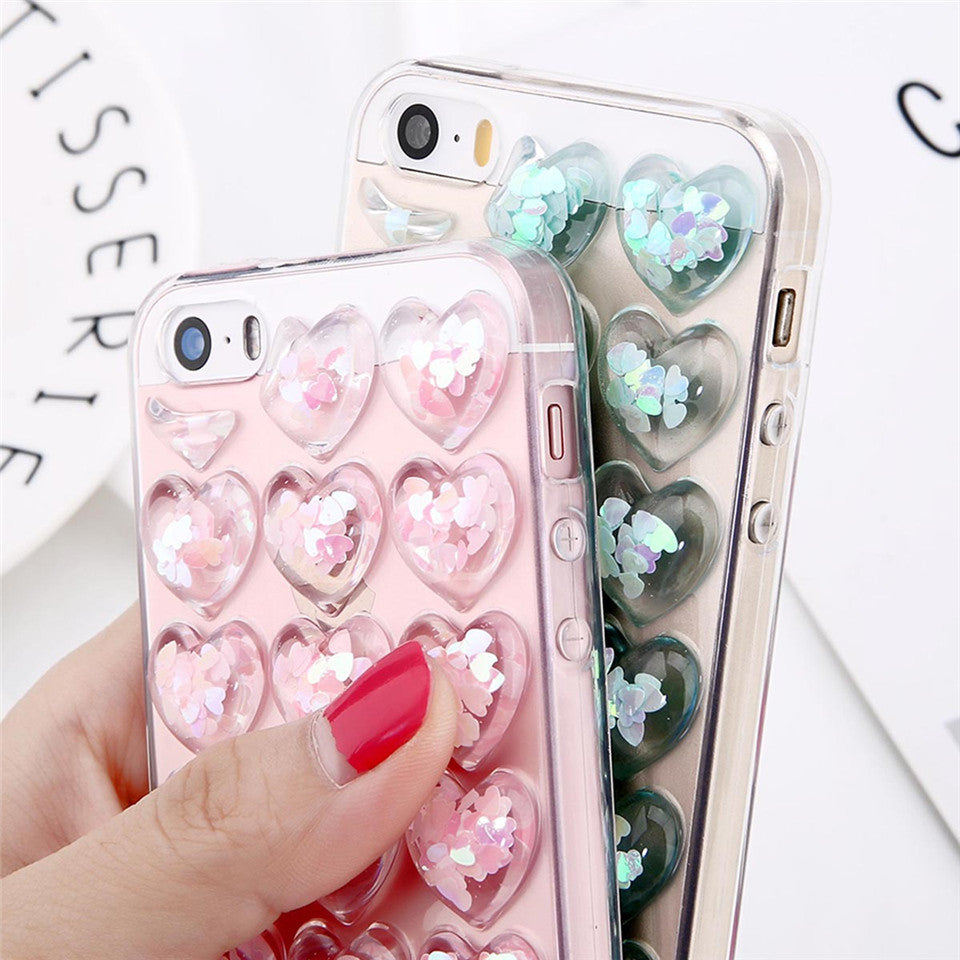 bb4fbea157 ... glitter bubble heart phone case for apple iphone cover protector  squishy squeeze bubbles bubbly love soft ...