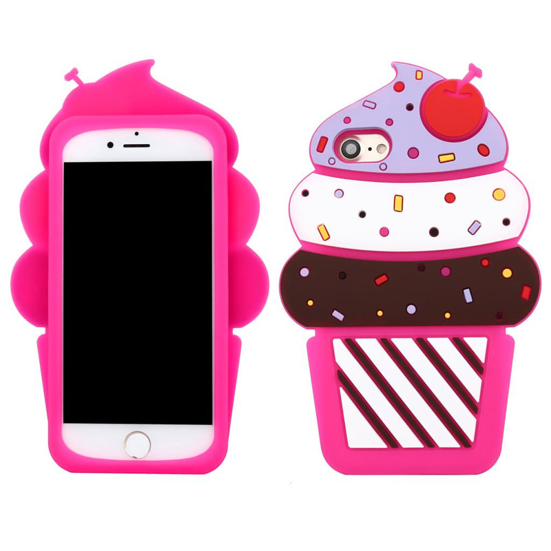 pastel fairy kei 3d Rubber cupcake iPhone Case phone cases protectors covers shock proof high quality cheap by kawaii babe