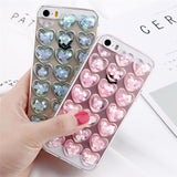 glitter bubble heart phone case for apple iphone cover protector squishy squeeze bubbles bubbly love soft 3d rubber silicone harajuku japan fashion by kawaii babe