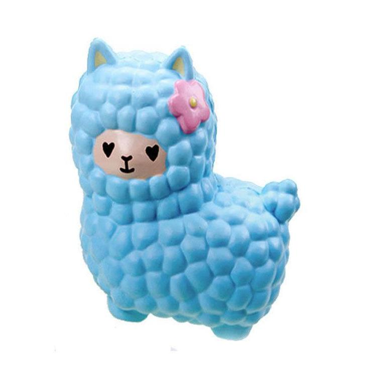 blue alpaca squeeze toy stress ball stress relief autism stim stimming kawaii fairy kei by kawaii babe