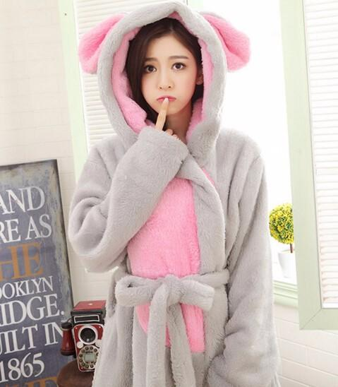 Cozy Flannel Hooded Robe